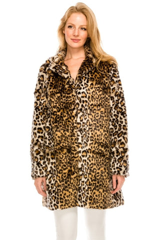 NS-124 Leopard pattern coat