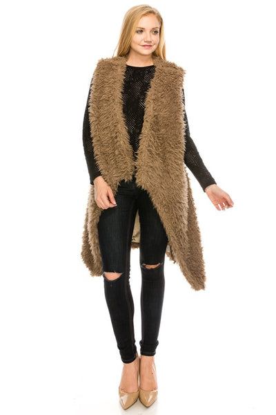 6047 Cozy and Soft Faux Fur Fuzzy Vest