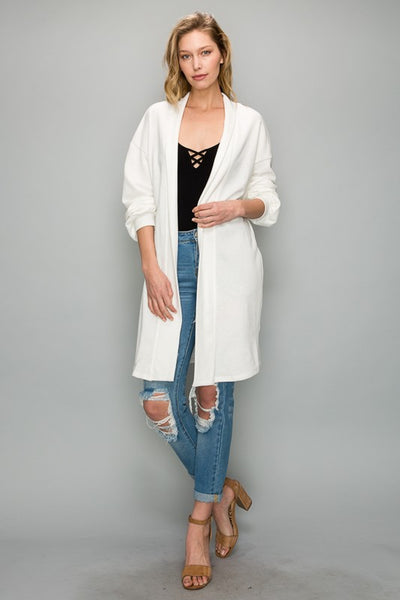 AT1175 French Terry Long Cardigan