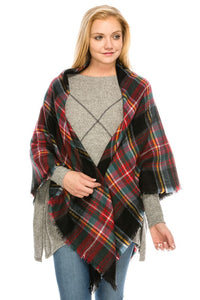 3616 Cozy Plaid Pattern Bandana Style Scarf