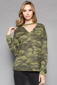 AT1156CA Camo Print Sweat Shirts