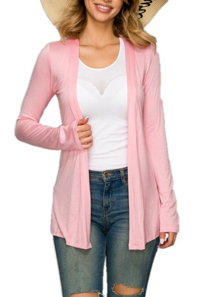 6141 Open Front Cardigan Sweater Light Weight(6pcs)