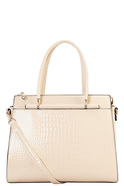 LP-7125 Designer  Crocodile Tote Bag