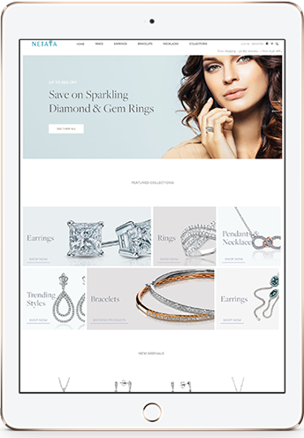 Netaya Online Jewelers - Parkfield Designed and Developed