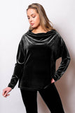 Velvet Drape Neck Top