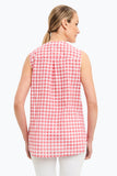 Leena Sleeveless Gingham Blouse