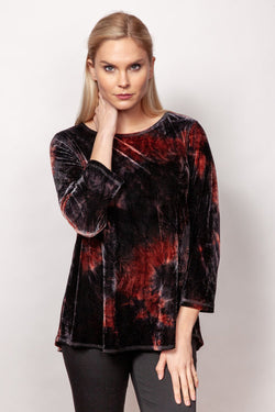 Tie Dyed Crushed Velvet Top