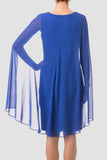 Chemise Dress with Cape