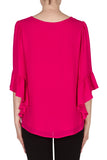 Boatneck Top with Ruffle Sleeves