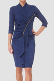 Melange Surplice Dress