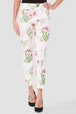Pull On Floral Ankle Pant