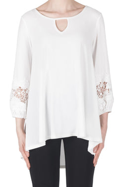 Lace Sleeve Peasant Top