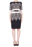 Lace Print Sheath Dress