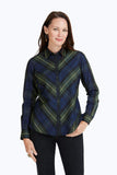 Tina Diagonal Plaid Shirt