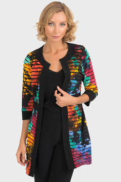 Multi Striped Long Jacket