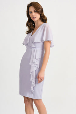 Chiffon Dress with a Caplet Top