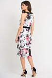 Floral Chiffon Ruffle Dress