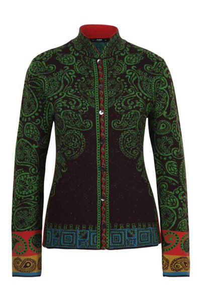 Jacquard Jacket with Pleats