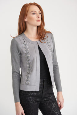 Faux Suede Short Jacket