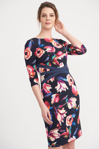 Floral Dress with Taping