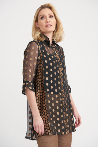 Foil Gold Dot Tunic