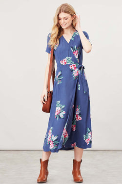 Callie Print Wrap Dress