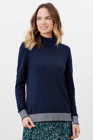 Orianna Striped Turtleneck