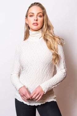 Crinkle Turtleneck in 3 Colors
