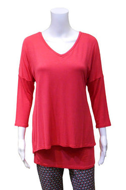Double Layer V-Neck Tunic