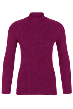 Textured Mock Neck Sweater in 3 Colors
