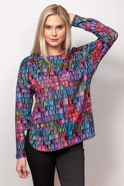 Microfiber Printed Sweatshirt Top