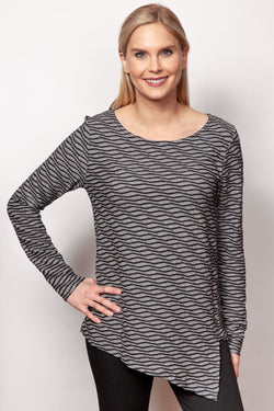 Wavy Striped Tunic