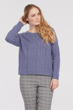 Pointelle Crew Neck Sweater