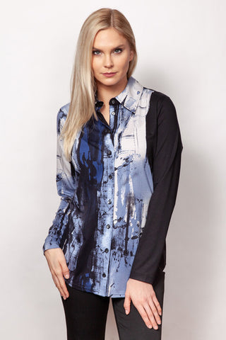 Printed Button Shirt
