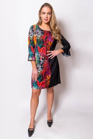 Fit and Flair Print Dress
