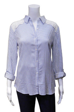 Mini Stripe Shirt with Lace