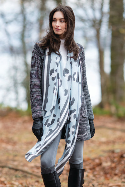 Challis Abstract Scarves in 2 Prints