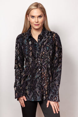 Flocked Button Shirt