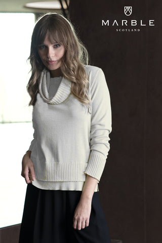 Removable Cowl Neck Pullover