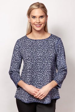 Animal Jacquard Ballet Neck Top