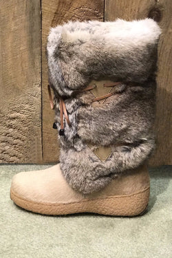 Anna Rabbit Fur Boot
