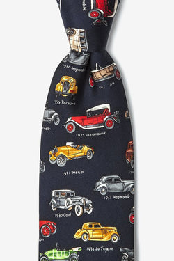 Antique Cars Tie