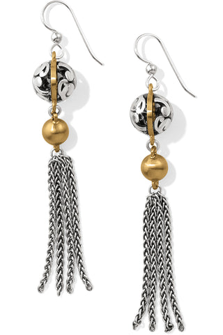 Elora Lux Tassel French Wire Earrings