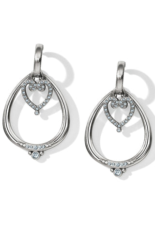 Natalia Convertible Heart Hoop Post Earrings