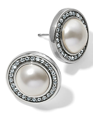 Pearl Chara Ellipse Post Earrings