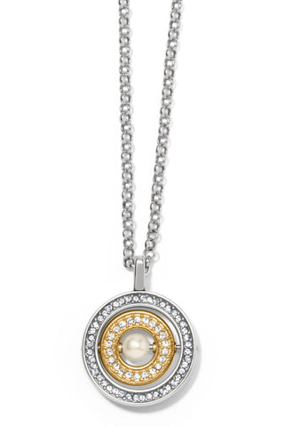 Meridian Pearl Spin Pendant Necklace