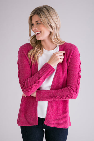 Criss Cross Detailed Open Cardigan
