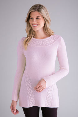 Cabled Crew Neck Tunic