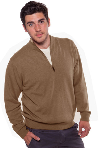 Zip Neck Cashmere Sweater