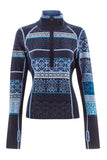 Hayley Zip Neck Fairisle Sweater